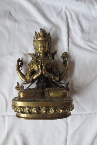Großer Alter Buddha Bild