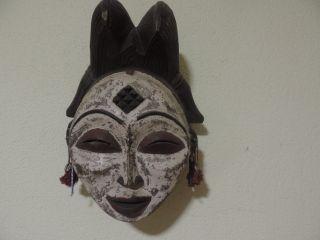 Alte Maske,  Frauenmaske Aus Holz Bild