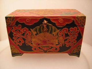 Schmuckkiste Truhe Aus Tibet (tibet Wooden Box) Bild