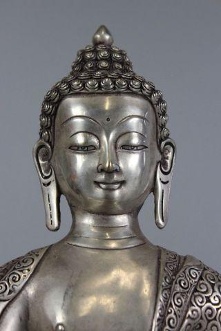 Amitabha Buddha Statue Bronze Skulptur Tibet Asiatika Asien Figur China Bild