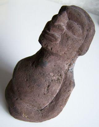 Osterinsel/rapa Nui – Moai - Tiki - Skulptur Aus Braunem Lavastein Bild