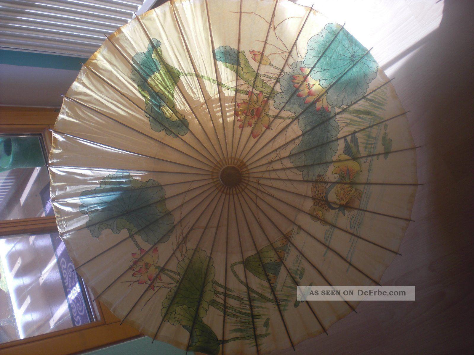 6 gro e asiatische sonnenschirme papierschirm - Asiatische dekoration ...