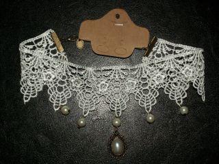 1 Bezaubernde Messing Spitze Spitzen Hals Kette Halskette Amulett Gothic Bild