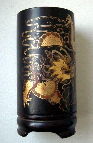 Altes Gefäß Aus Asien,  Holzarbeit Bild
