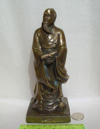 Alte Taoisten - Dschuang Dsi Messing,  Fengshui,  Deko Bild