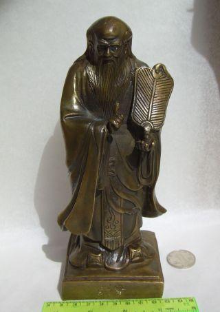 Alte Taoisten - Laotse Messing,  Fengshui,  Deko Bild