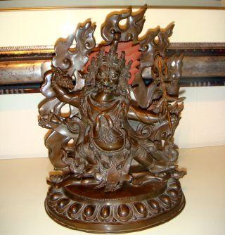 Nepal - Tibet,  Buddha Mahankala,  Kupfer Bild