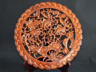 28.  0cm Wunderbares Alte Kampfer,  Chinesische Handarbeit Goldfis Skulptur Schmuck Bild