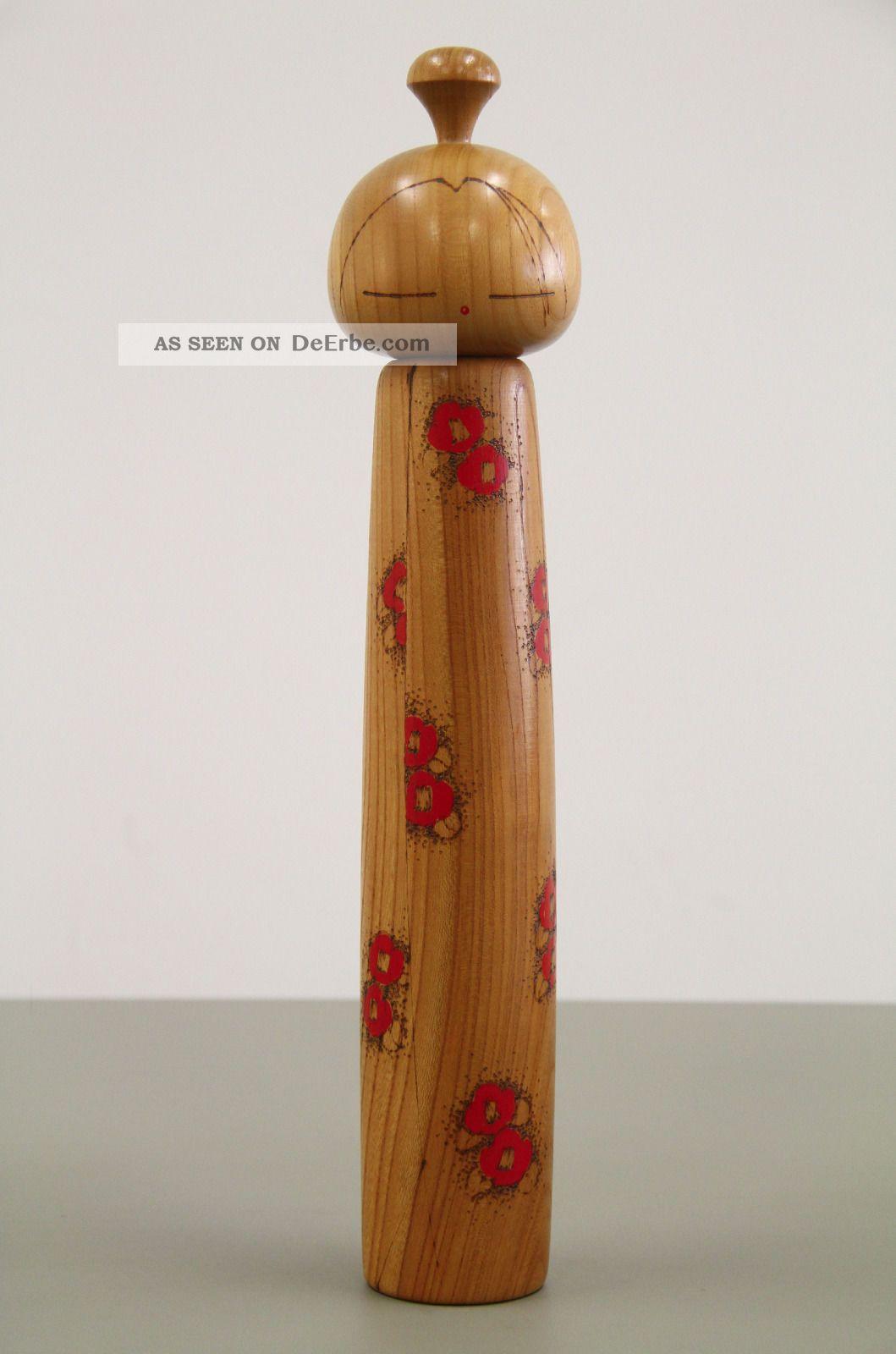 Kokeshi Japanische Holzpuppe Figur Vintage Entstehungszeit nach 1945 Bild