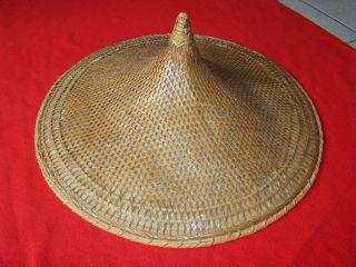 Chinesischer Reishut Feldarbeiter Hut Ø 60 Cm Groß Bambus Bild
