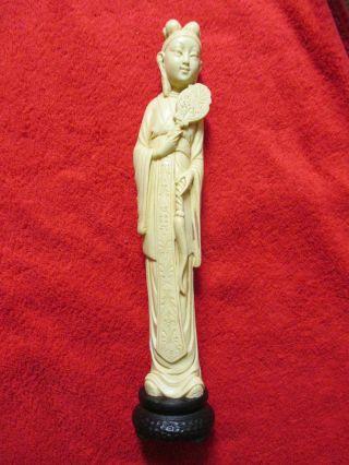 Wunderschöne,  Grosse Netsuke Mit Darstellung Einer Chinesischen Frau,  554 G Bild