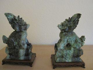 2 Jade Drachen Marmor Tempelwächter Handarbeit 22cm Hoch Bild