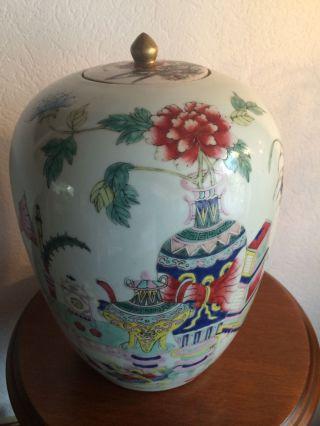 Antike Chinesische Porzellan Deckelvase Bild