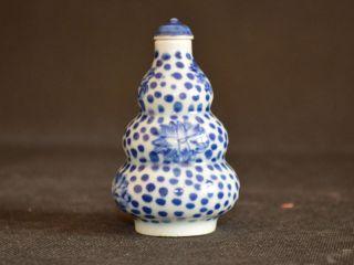 Sammeln Altes Chinesische Blau - Weiß - Porzellan,  Handbemalt Lotus Snuff Bottle Bild