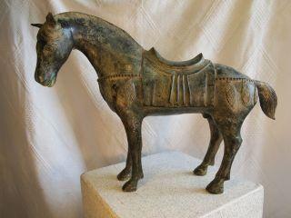 Großes Pferd Aus Bronze China 4 Kg. ,  L.  50 Cm,  H.  36 Cm Wie Alt ? Tang Pferd? Bild