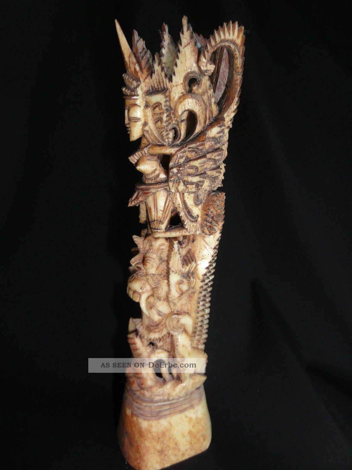 Geschnitzte Figur Knochen Bein Indonesien?