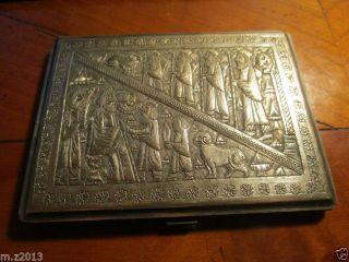 Antike Persische Zigaretten Etui Massiv Silber Ca 165 Gramm / Handarbeit Um1920 Bild