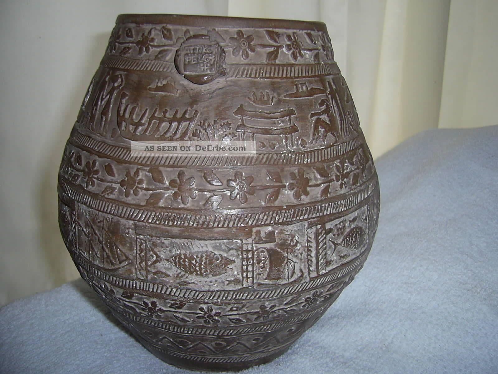 antike ton vase mit siegel aus sammlung eines arch ologen haushaltsaufl sung. Black Bedroom Furniture Sets. Home Design Ideas