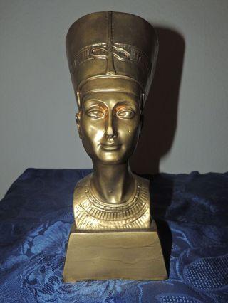 Pharao Büste Nofretete Ägypten Ramses Kunststoff O.  ä.  Deko Dekoration 30cm Bild