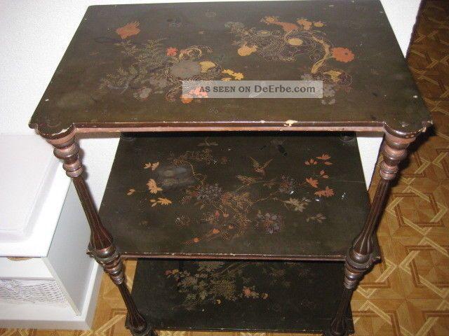 Antikes altes japanisches lack tischchen tisch regal meiji for Tisch japanisches design