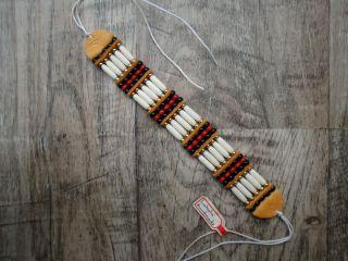 Lakota Indianer Knochenarmband/choker - Armband Aus Dünnen Büffelknochen Bild