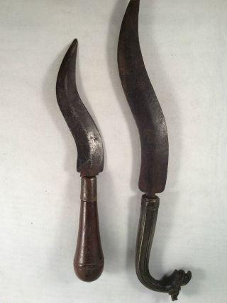 2 Antike Messer,  Orient Oder Arabien,  19.  Jahrhundert.  Sammler Bild