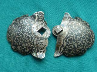 Gürtelschliesse,  Gürtelschnalle 84 Er Silber Russland Niello Bild