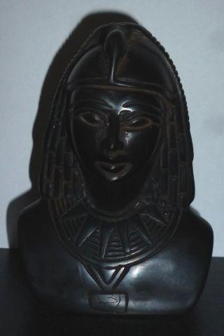 Büste Königin Skulptur Ägypten Pharaonin 440 Gramm 11 Cm Hoch Theben Neues Reich Bild