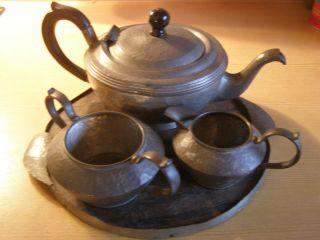 England,  Kaffeeset,  Teeset Mit Bakelitgriff Und Tablett,  Dachbodenfund Bild