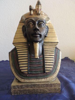 Pharao Büste Tutanchamun Ägypten Ramses Kunststoff Deko Dekoration 30cm Bild