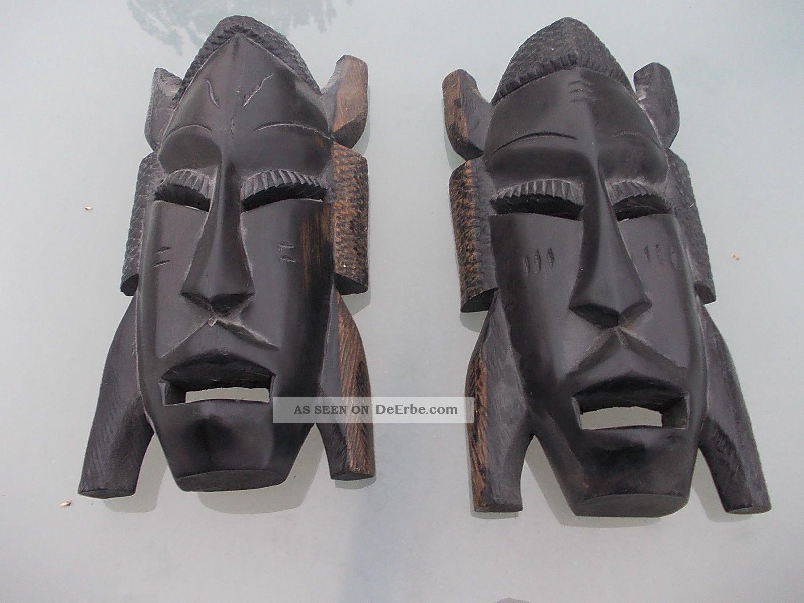 2 afrikanische masken. Black Bedroom Furniture Sets. Home Design Ideas
