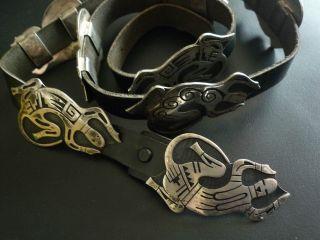 Designer - Unikat Concho Gürtel,  Gecko Eidechse,  Sterling Silber,  Leroy Kewanyama Bild