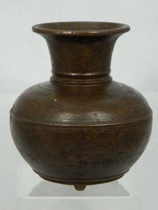 Schöne Alte Bronzevase Vase Bronze Höhe 11,  8 Cm Asien Vorderasien 19.  Jhd. Bild