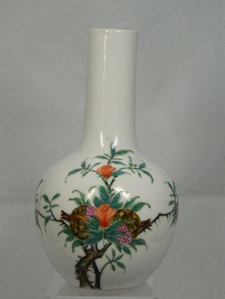 Langhalsvase Aus Porzellan Höhe 20,  5 Cm Vase Famille Verte Marke China 20.  Jhd. Bild
