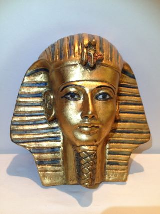 Totenmaske Ägypten Pharao Tut Ench Amun,  33cm Bild