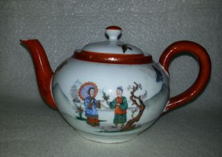 Sehr Alte Teekanne Japan Handbemalt Unten Gemarkt Bild