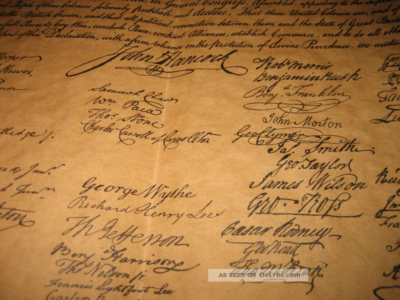 Usa Unabhängigkeitserklärung