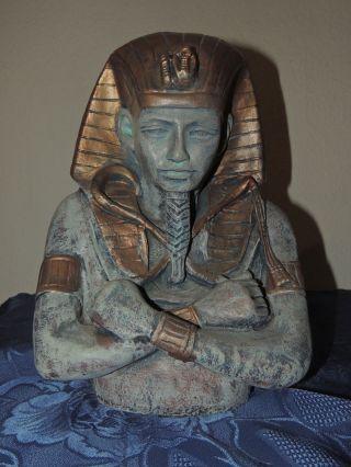 Pharao Büste Tutanchamun Ägypten Ramses Kunststoff Deko Dekoration 35cm Bild