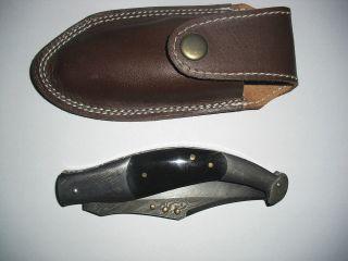 Damast - Taschenmesser,  Jagdmesser,  Damast, Bild