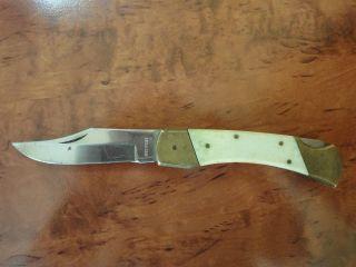 Altes Taschenmesser,  Messer,  Messing,  Vermutlich Bein,  Jagdmesser Bild