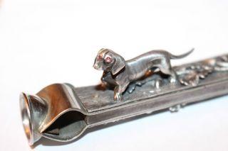 Zigarrenschneider Mit Hunde - Und Eichenlaubverzierung Bild