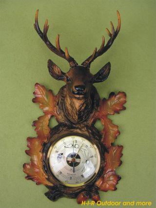 Sehr Selten Erref Barometer Mit Hirschkopf Made In France Vintage 50er 60er J. Bild