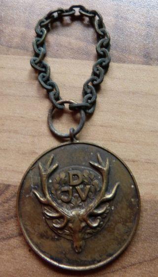 Medaille Anhänger Jäger Djv Messing Bronze Bild