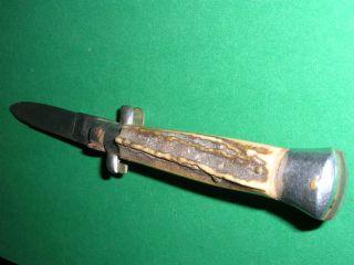 Altes Jagdmesser Mit Hirschgriff,  Deutsch Aus Nachlass Bild