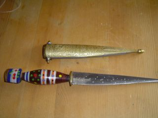 Altes Orientalisch Messer Orientalisches Messing Bild
