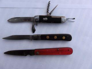 Drei Historische Taschenmesser Aus Solingen Bild