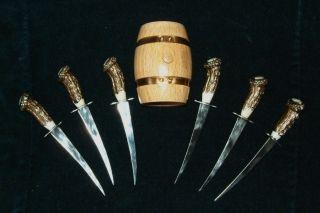 6 Spieße Messer Geweih Gehörn Jagd Larp Mittelalter Bild