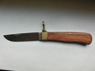 Taschenmesser Otter Solingen Schließmesser Holz Messing Bild