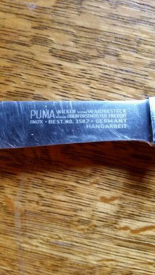 Puma Nicker Vom Waidbesteck Nach Oberforstmeister Frevert Germany Handarbeit Bild