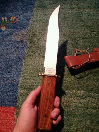 Gerber Bowie Utility 5978 Messer Spezial Anfertigung Jagen,  Sammeln Bild